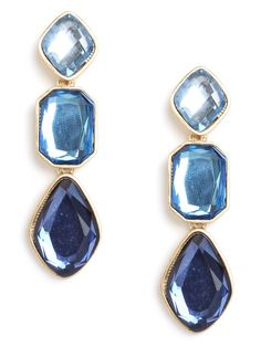 Over-the-top can be absolutely fabulous. Just check out this knockout pair of earrings, which features gobstopper-sized gems — in mesmerizing blues — that simply oozes glamour.