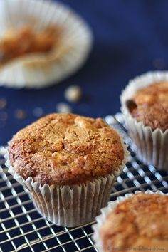 Muffins pommes et cheddar Cheddar, Biscuits, Muffins, Cupcakes, Yummy Cookies, Scones, Main Dishes, Bakery, Brunch