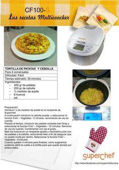 Robot de cocina - Superchef CF100-S MULTICOOKER Potencia 980W, Capacidad de 4L, 8 funciones, Programable Multicooker, Spanish Omelette, Dishes, Food Cakes, Homemade Food, Slow Cooker, Recipe Books, Food Processor