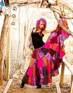 Wendy Kays no gathers twirly Gypsy Skirt pattern for women. $10.00, via Etsy.