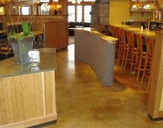 Restaurant, Stained Concrete Effects North Berwick, ME Acid Wash Concrete, Stained Concrete, Photo Galleries, Divider, Restaurant, Gallery, Room, Furniture, Home Decor