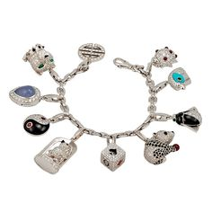 1stdibs - CARTIER Diamond and Color Stone Charm Bracelet explore items from 1,700  global dealers at 1stdibs.com