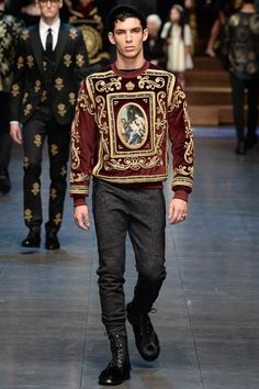 Dolce & Gabbana Fall 2015 Menswear - Details - Gallery - Style.com