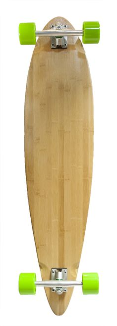 Blank Bamboo Pintail Longboard Complete