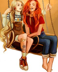 I did not know luna and Ginny were a ship but all their fan art is adorable