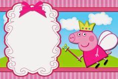 Fiesta de Cumpleaños de Peppa Pig Paso a Paso Fiestas Peppa Pig, Cumple Peppa Pig, Free Printable Invitations, Free Printables, Invitacion Peppa Pig, Peppa Pig Imagenes, Peppa Pig Birthday Invitations, Pig Candy, Aniversario Peppa Pig