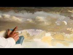 Como pintar un paisaje al Óleo (Oil painting) - Nubes 1 ( Parte 2 )