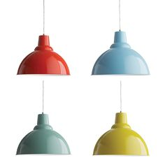 bold pendants for kitchen, work space, three in a row in the foyer....hang one or multiples