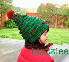 Oh Christmas Tree Crochet Hat PATTERN  - PDF file - Instructions to make super cute and easy hats, 6 sizes newborn to adult. $3.99, via Etsy.