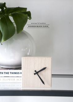 Sometimes it seems like ideas just fall in your lap, no? Well, in the case of this modern block clock diy, that is exactly what happened… literally. I had a clock in my kitchen just fall off… Diy Christmas Gifts For Boyfriend, Christmas Diy, Boyfriend Gifts, Diy Crafts For Adults, Modern Clock, Modern Crafts, Diy Clock, Wood Clocks, Idee Diy