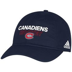 fecd5e0e8fd Men s Montreal Canadiens adidas Navy On Ice Slouch Adjustable Hat