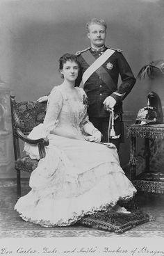 DON CARLOS E DONA AMELIA OS DUQUES DE BRAGANÇA Reinado 1889/ 1908