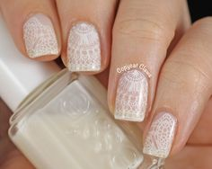Messy Mansion Lace Nail Stamping : MM44