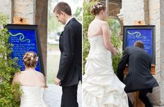 Have your vows painted and displayed at your ceremony. Once you are done exchanging them, sign the painting! YES!
