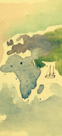 Detail word map with sailboat