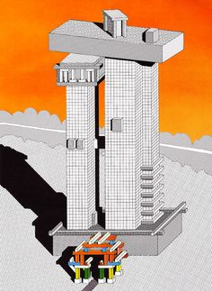Ettore Sottsass, Design for a Building, 1983