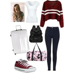 First Day Of College by chocolatequeen518 on Polyvore featuring polyvore, fashion, style, Jane Norman, Topshop, Converse, Sherpani and Karta L'Originale