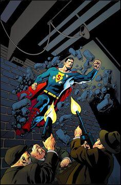 """Un Superman de los años 30 (""""Superman Unchained #4"""") por Kevin Nowlan"""