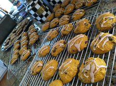 Pumpkin chocolate chip cookies with glaze!    •ab