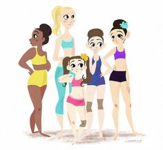 Nia Chloe Mackenzie maddie and kendall in cartoon form