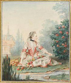 La petite bergère, Mademoiselle d'Epinay by Louis Carrogis (Musée Condé - Chantilly France) Photo - René Gabriel Ojéda