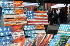 American Flag Art at Eastern Market,