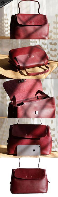 Handmade Leather tote bag shopper bag for women leather shoulder