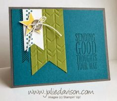 Julie's Stamping Spot -- Stampin' Up! Project Ideas Posted Daily - Masculine Perfect Pennants Card - winstonjina35@gmail.com - Gmail