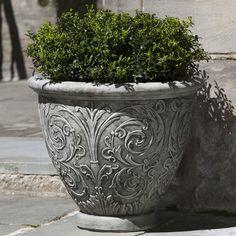 Campania International, Inc Arabesque Round Pot Planter Size: Small, Finish: Ferro Rustico