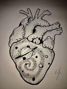 Trippy Drawings, Easy Drawings, Pencil Drawings, Anatomical Heart Drawing, Dibujos Dark, Art Couple, Trippy Painting, Anatomy Art, Heart Art