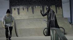 Darth Vader Rides BMX and Skateboards Bmx Videos, Best Bmx, Skateboards, Darth Vader, Bike, Bicycle, Skateboard, Bicycles, Skateboarding