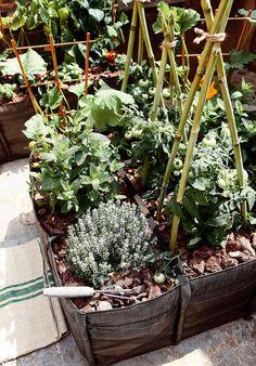 Huerta en Saco transpirable. Las jardineras en forma de saco son lo más parecido…