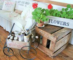 crates & feedsacks / The Country Farm Home