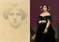 #SeparatedAtBirth In celebration of Jean-Auguste-Dominique Ingres's birthday: Two portraits of Madame Moitessier made by Ingres in 1851. The artist pa... - Getty Museum - Google+
