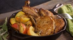Maple Pork Chops with Brown Butter, Apples and Onions