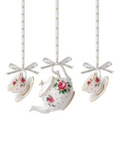 This Cheeky Pink Teapot China Ornament Set by Royal Albert is perfect! #zulilyfinds