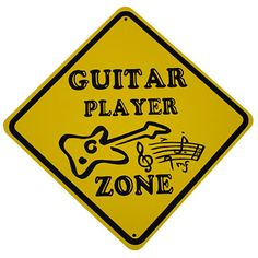 Guitar Zone Sign  - Mark your territory with this cool player sign. Great for the studio, bedroom, garage or wherever they shred licks!  #guitar