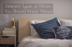 Different Types Of Pillows You Should Know About. This comprehensive guide will help you understand which material, size, and shape of the pillow exist. Different Types, Best Pillow, Getting Out Of Bed, Mattress, Pillow Cases, Throw Pillows, Cool Stuff, Bedroom, Automotive News
