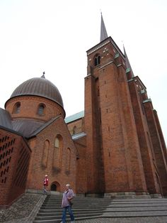 Roskilde Cathedral (Domkirke) in Roskilde Denmark where Danish kings and queens have been buried for a thousand years Copenhagen Travel, Copenhagen Denmark, Odense, Places To See, Places Ive Been, Cathedral Basilica, Denmark Travel, Scandinavian Countries, Place Of Worship