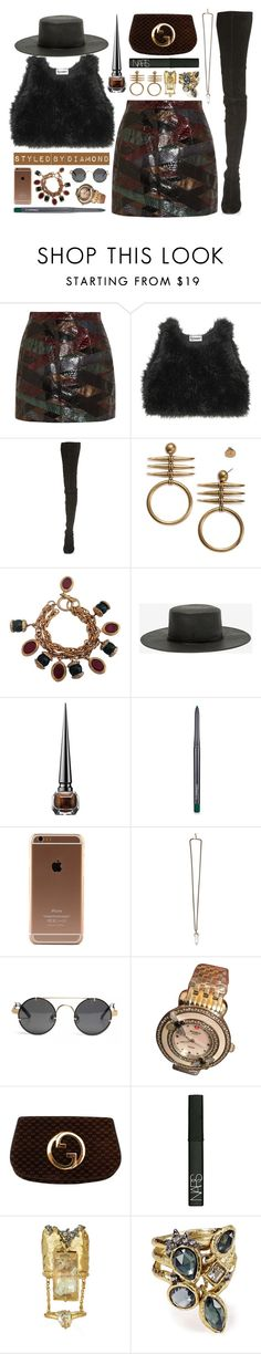 """""""Indian Summer"""" by diamxo ❤ liked on Polyvore featuring Emilio Pucci, Maison Margiela, Tory Burch, Chanel, San Diego Hat Co., Christian Louboutin, MAC Cosmetics, Givenchy, Michele and NARS Cosmetics"""