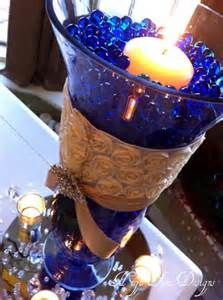 Wedding decorations cobalt blue