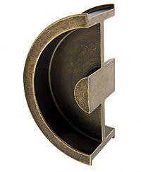Sugatsune DSI-3250-35-AB - Sliding Door Pull For 1-3/8in. Thick Door - (Antique Brass) - The Hardware Hut
