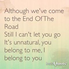 Songtext von Boyz II Men - End of the Road Lyrics