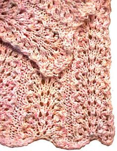 think I will try this. Lace is fun, I discovered, after making a lace scarf.