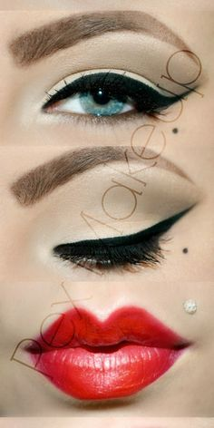 Pin Up Makeup Looks | Photos with Rimmel London Lasting Finish Lipstick by Kate Moss ...