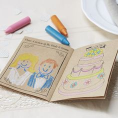 Wedding Favor For Kids Coloring Book Activities Rustic Activity Table