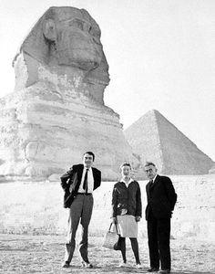 Jean Paul Sartre, Simone de Beauvoir and Claude Lanzmann, Gizeh, 1967