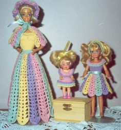 Barbie doll crochet outfits