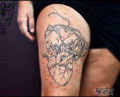 Namaste Tattoo, Heart Tattoos, Heart Tree, Anatomical Heart, Fine Line Tattoos, Watercolor Tattoo, Concept, Ink, Instagram Posts