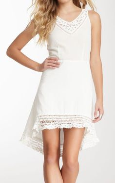 Miilla Hi-Lo Lace Trim Dress